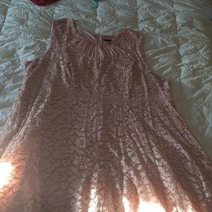 Dusty Pink mid length Dress